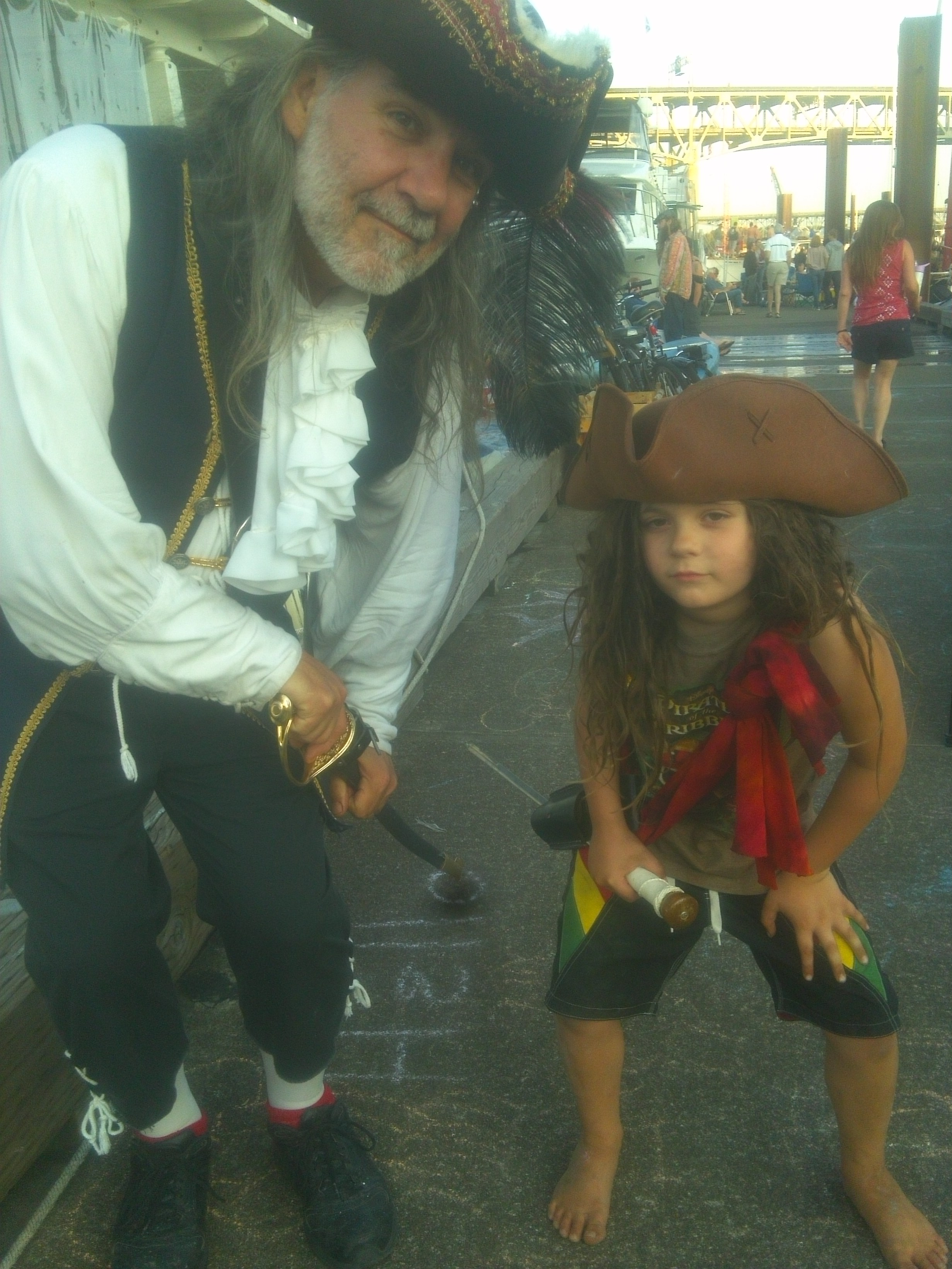 Pirate dad and son